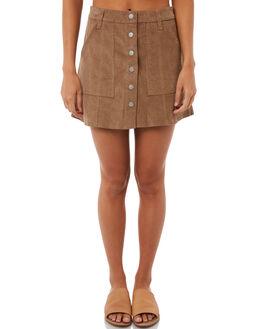 OLIVINE WOMENS CLOTHING RHYTHM SKIRTS - SKT00W-SK02OLIV