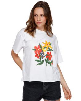 WHITE WOMENS CLOTHING RVCA TEES - R291691WHI