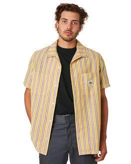 YELLOW MENS CLOTHING STUSSY SHIRTS - ST093401YEL