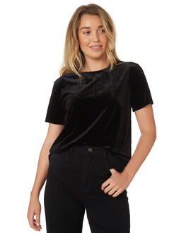 BLACK WOMENS CLOTHING LULU AND ROSE FASHION TOPS - LU23383BLK