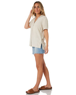 NATURAL WOMENS CLOTHING RIP CURL FASHION TOPS - GSHGK10031