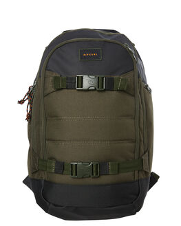 DARK OLIVE MENS ACCESSORIES RIP CURL BAGS + BACKPACKS - BBPZI29389