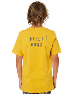 LIGHT MUSTARD KIDS BOYS BILLABONG TOPS - 8582035LM3