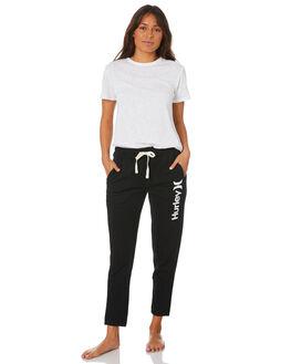 BLACK WOMENS CLOTHING HURLEY PANTS - CW3264010