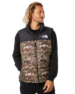 OLIVE CAMO PRINT MENS CLOTHING THE NORTH FACE JACKETS - NF0A3JQQLJ8