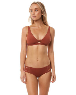 BURNT AMBER WOMENS SWIMWEAR SEAFOLLY BIKINI TOPS - 30955-058AMB