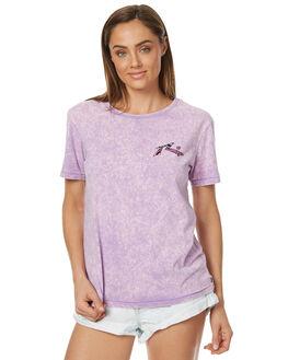 NEON PURPLE WOMENS CLOTHING RUSTY TEES - TTL0890NPP