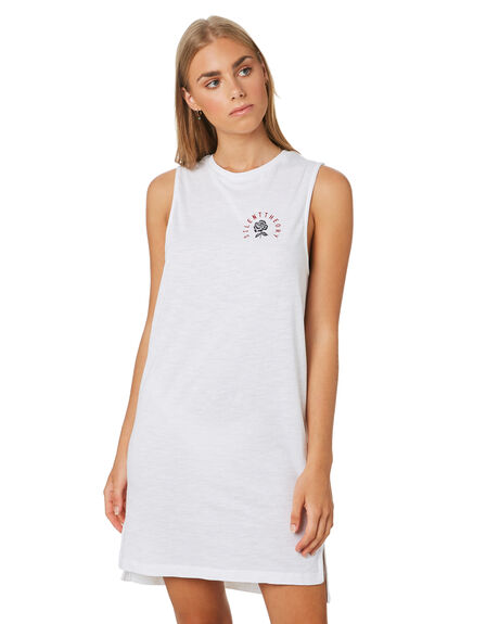 WHITE WOMENS CLOTHING SILENT THEORY DRESSES - 6008229WHT
