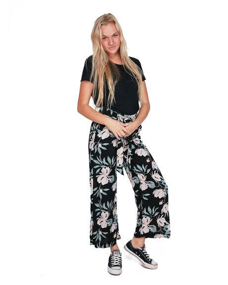 ANTHRACITE TROPIC WOMENS CLOTHING ROXY PANTS - ERJNP03305-XKMW