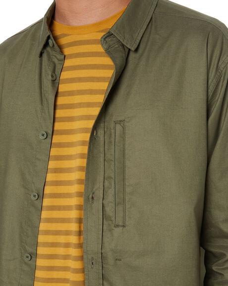 OLIVE MENS CLOTHING GLOBE SHIRTS - GB02004001OLIVE