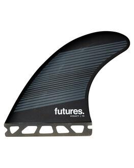 GREY BLACK BOARDSPORTS SURF FUTURE FINS FINS - 1175-160-50GRYBK