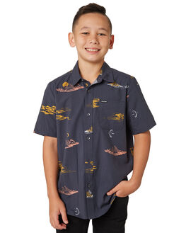 ASPHALT BLACK KIDS BOYS VOLCOM TOPS - C0441802ASB