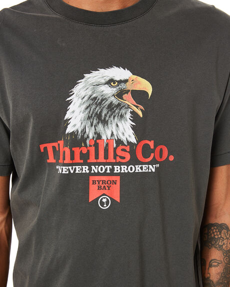 MERCH BLACK MENS CLOTHING THRILLS TEES - TA21-109BMMBLK