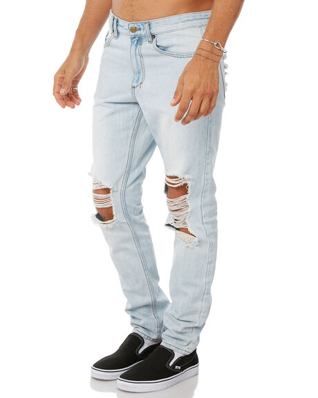 FRIDAY BLUE TRASHED MENS CLOTHING INSIGHT JEANS - 5000002013FRITR