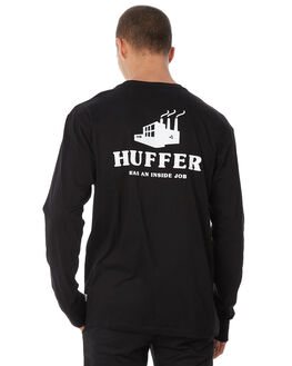BLACK MENS CLOTHING HUFFER TEES - MLS82S660591BLK