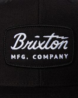 BLACK BLACK WHITE MENS ACCESSORIES BRIXTON HEADWEAR - 00491BBWHT