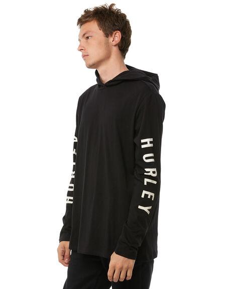 BLACK MENS CLOTHING HURLEY TEES - 894986010