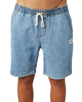 THRIFTED BLUE MENS CLOTHING RUSTY SHORTS - WKM0910THB