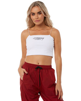 WHITE WOMENS CLOTHING STUSSY FASHION TOPS - ST181209WHT