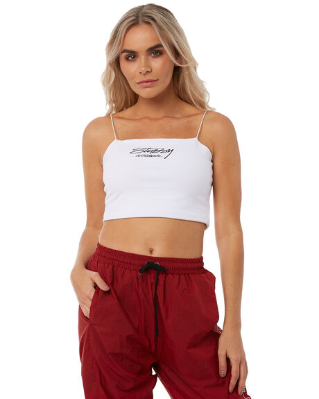 WHITE OUTLET WOMENS STUSSY FASHION TOPS - ST181209WHT