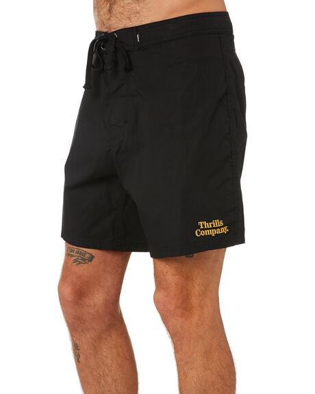 BLACK MENS CLOTHING THRILLS BOARDSHORTS - TR9-302BBLK