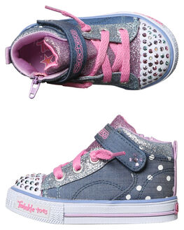 DENIM MULTI KIDS TODDLER GIRLS SKECHERS FOOTWEAR - 10768NDMLT