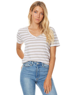 STONE STRIPE WOMENS CLOTHING ASSEMBLY TEES - AW-W1701STSTR
