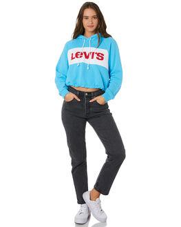 SWIM BLUE WHITE WOMENS CLOTHING LEVI'S JUMPERS - 69652-0001BLU