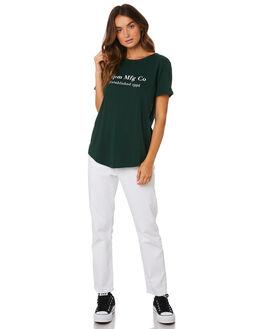 DARK GREEN WOMENS CLOTHING RPM TEES - 9WWT01B2GRN