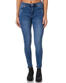 BLUE FLAME WOMENS CLOTHING ZIGGY JEANS - ZW-1460BLFLM