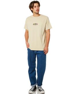 WASHED INDIGO MENS CLOTHING AFENDS JEANS - M181451WINDI