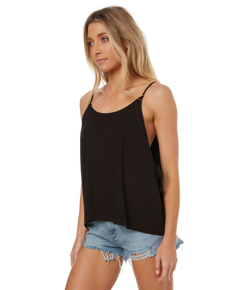 BLK WOMENS CLOTHING RUSTY SINGLETS - TSL0521BLK