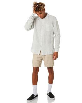 LINEN STRIPE MENS CLOTHING BARNEY COOLS SHIRTS - 317-CC3LINST