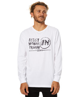 WHITE MENS CLOTHING RVCA TEES - R174098WHT