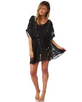 BLACK WOMENS CLOTHING TIGERLILY FASHION TOPS - T382445BLK