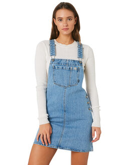 SUMMER CAMP BLUE WOMENS CLOTHING DR DENIM PLAYSUITS + OVERALLS - 1910108-H38