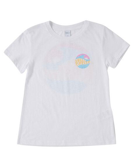 WHITE KIDS GIRLS SWELL TOPS - S6222003WHT