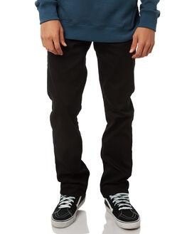BLACK ON BLACK MENS CLOTHING VOLCOM JEANS - A1931503BKB