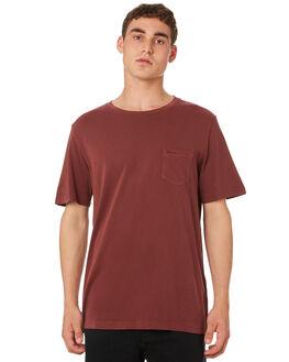 BORDEAUX MENS CLOTHING RVCA TEES - R181066BORDX