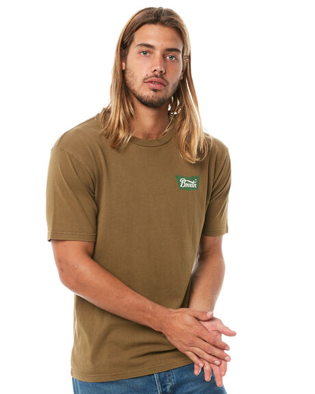 OLIVE MENS CLOTHING BRIXTON TEES - 06560OLIVE