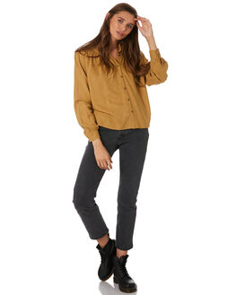 GOLDEN YELLOW WOMENS CLOTHING THRILLS FASHION TOPS - WTW9-205KGYEL