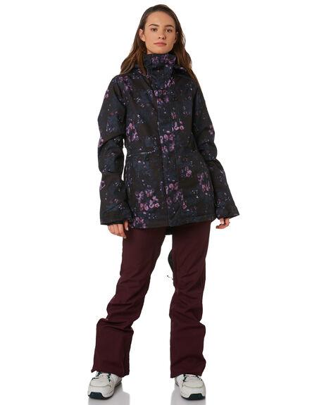 BLACK FLORAL PRINT BOARDSPORTS SNOW VOLCOM WOMENS - H0452009BFP