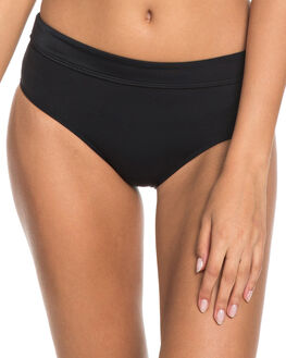 TRUE BLACK WOMENS SWIMWEAR ROXY BIKINI BOTTOMS - ERJX403604KVJ0