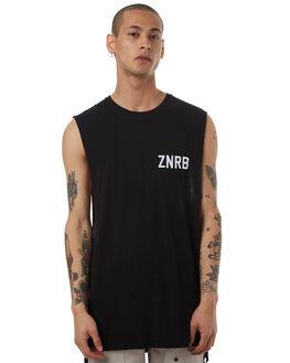 BLACK MENS CLOTHING ZANEROBE SINGLETS - 151-LYKMBLK