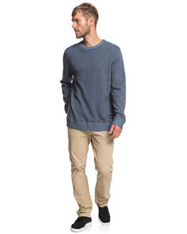 NAVY BLAZER HEATHER MENS CLOTHING QUIKSILVER KNITS + CARDIGANS - EQYSW03237-BYJH