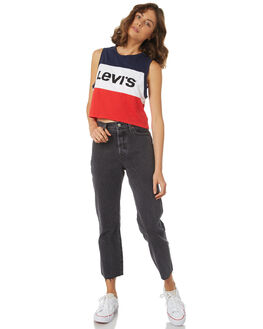 MEDIEVAL BLUE CLOUD WOMENS CLOTHING LEVI'S SINGLETS - 57786-0000BCRED