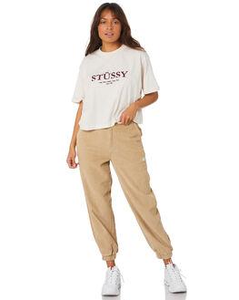 CAMEL WOMENS CLOTHING STUSSY PANTS - ST106603CAM