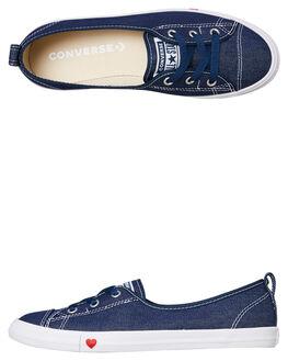 INDIGO WOMENS FOOTWEAR CONVERSE SNEAKERS - 563493IND