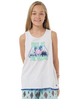 WHITE KIDS GIRLS EVES SISTER SINGLETS - 9900061WHT