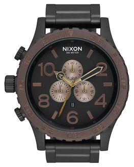 BLACK BROWN BRASS MENS ACCESSORIES NIXON WATCHES - A0832786